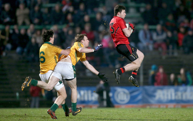 Donal O'Hare catches a high ball