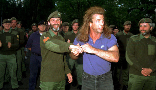 Mel Gibson Making Brave Heart in Ireland