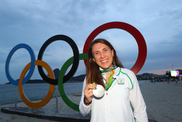 Annalise Murphy with her silver medal
