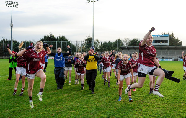 Annaghdown players celebrate after the game