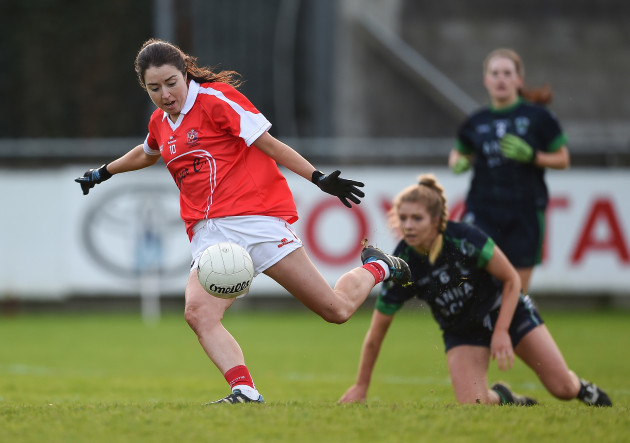 Cathriona Mc Connell scores a goal
