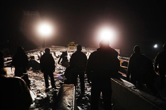 Oil Pipeline Protest Digging In
