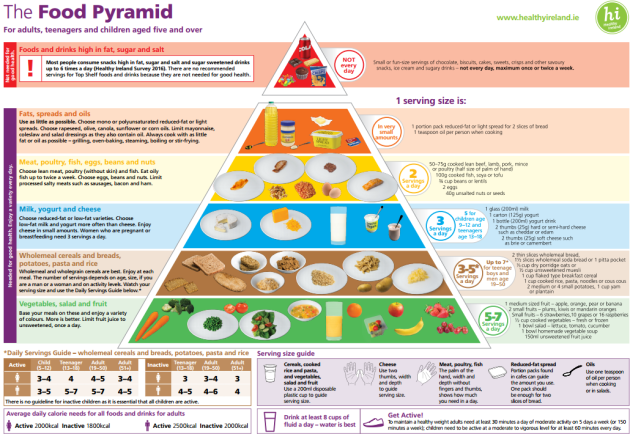 The New Food Pyramid More Fruit And Veg Fewer Carbohydrates And No White Bread
