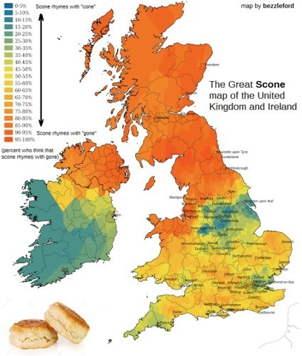 Map With Counties Of Ireland.A New Map Reveals How Different Counties Across Ireland Pronounce Scone