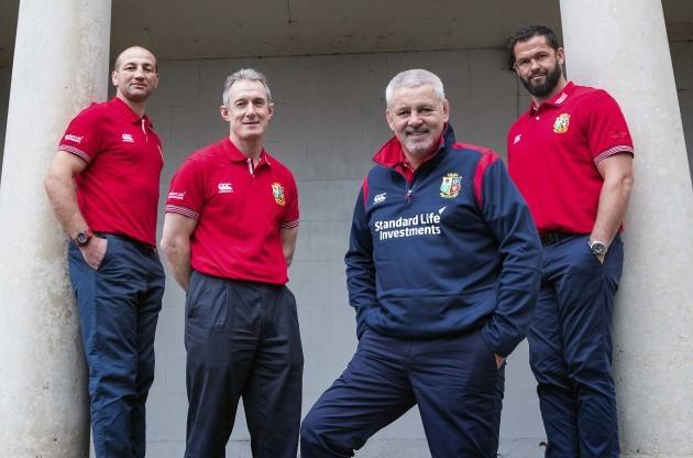 Steve Borthwick and Rob Howley, Warren Gatland and coach Andy Farrell