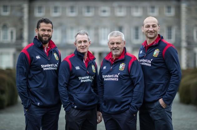Andy Farrell and Rob Howley, Warren Gatland and Steve Borthwick