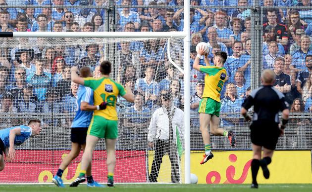 Ryan McHugh scores a goal