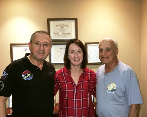 Fred Bohenek, Frank Morelli & documentary maker Kathy Raftery