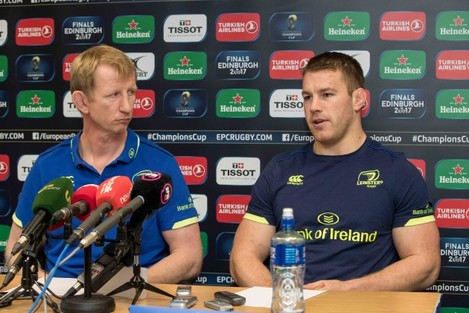 Leo Cullen with Sean O'Brien