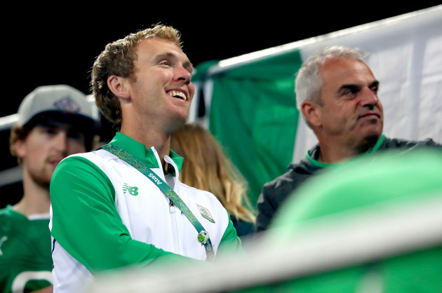 Seamus Power watches the game