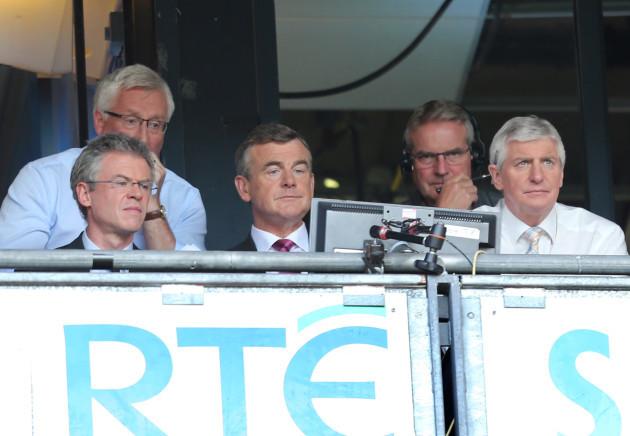 Joe Brolly, Pat Spillane, Colm O'Rourke and Michael Lester