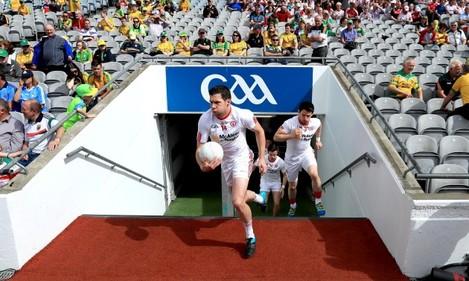 Sean Cavanagh takes to the field