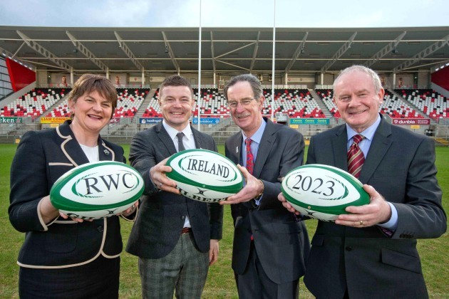 Arlene Foster, Brian O'Driscoll, Dick Spring and Martin McGuinness
