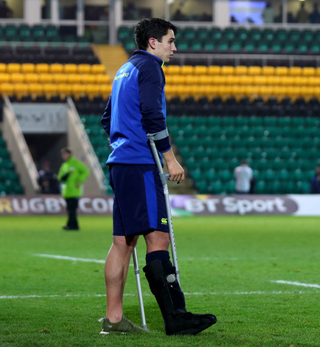 Joey Carbery oh the field after the game