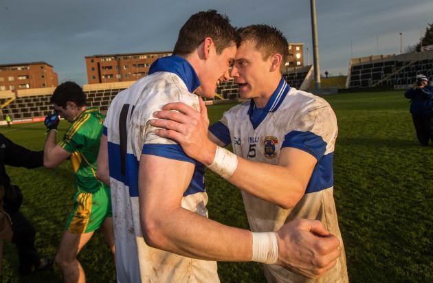 Diarmuid Connolly celebrates with Tomas Quinn