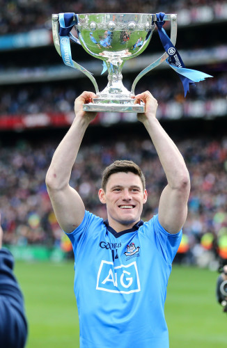 Diarmuid Connolly with the cup after the game