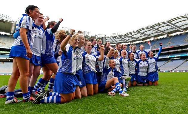 The Milford team celebrate winning