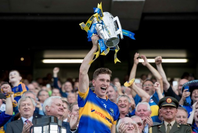 Brendan Maher lifts the Liam McCarthy Cup