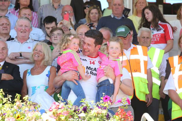Sean Cavanagh with his daughters Clara and Eva