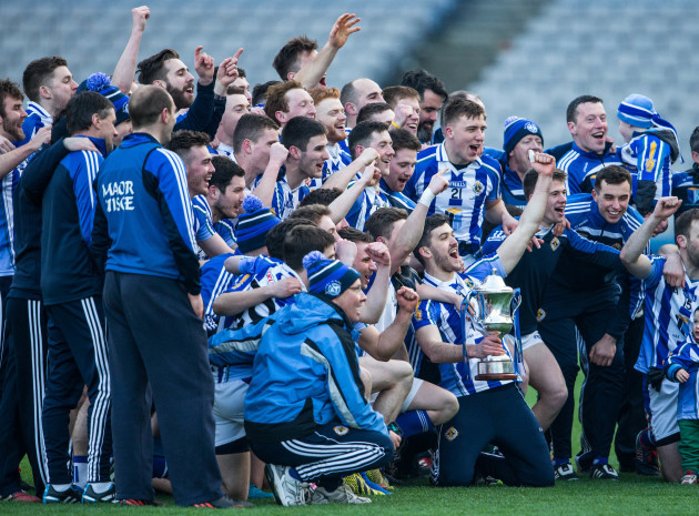 Ballyboden St. Enda's celebrate with the trophy