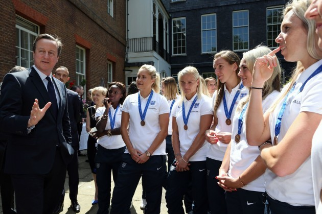 England Women's Football team reception at Downing Street