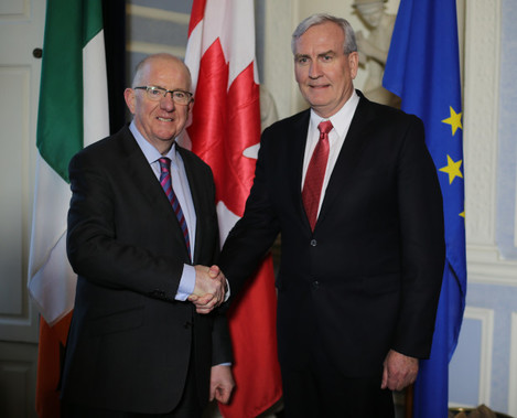 Canadian Ambassador to Ireland Kevin Vickers in Dublin