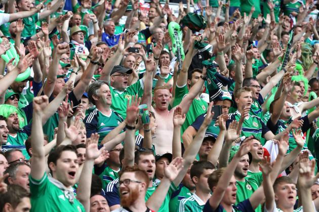 Northern Ireland fans celebrate