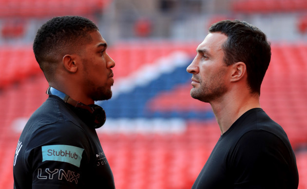 Anthony Joshua and Wladimir Klitschko Press Conference - Wembley Stadium