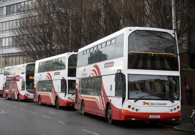 12/12/2016. Bus Eireann. Pictured Bus Eireann buse