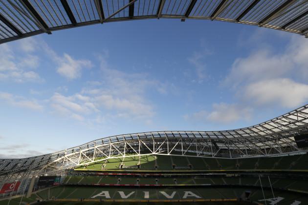 General view of the Aviva Stadium