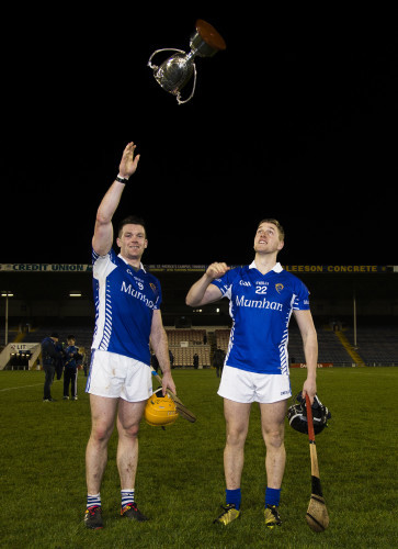 Paraic Maher celebrates with Dan McCormack after the game