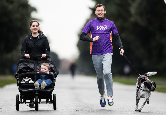 Ruth Morton with Jack and Marnie and David Gillick with dog Maggie