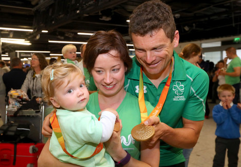 Eoghan Clifford with his family Zofia and Magdalena Clifford