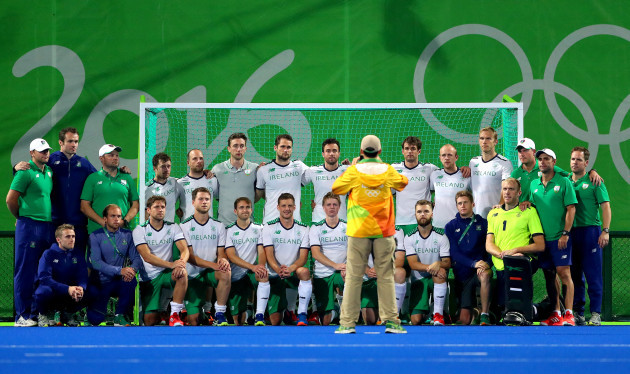 A view of the Ireland team after the game