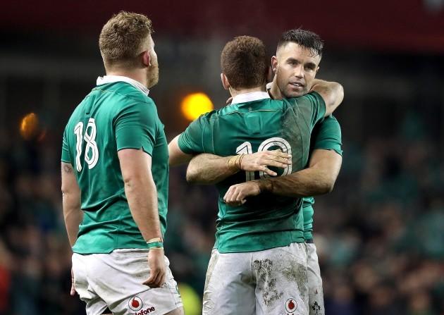 Conor Murray celebrates with Paddy Jackson