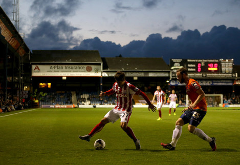 Soccer - Capital One Cup - Second Round - Luton Town v Stoke City - Kenilworth Road