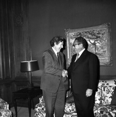Henry Kissinger meets Garret Fitzgerald