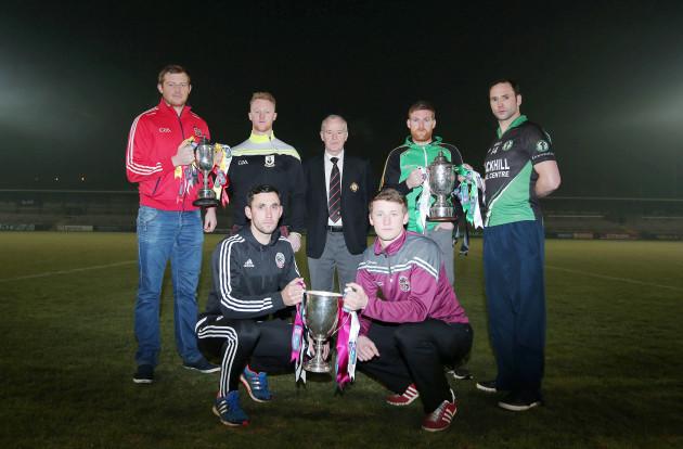 Shane McElroy, Hugh Pat McGeary, Michael Hasson, Darren Woods, Tommy Bloomer, Aidan Branagan and Brendan Rogers