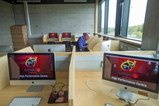 Paul O'Connell working in the Video Analysis Suite