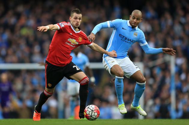 Manchester City v Manchester United - Barclays Premier League - Etihad Stadium