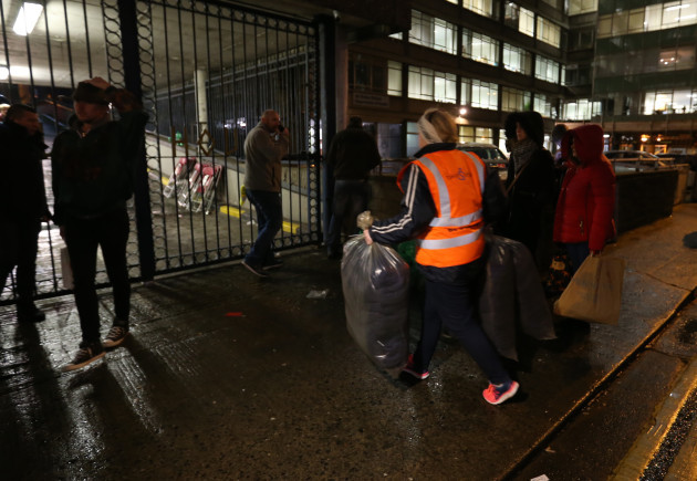 20/12/2016. Apollo House. Pictured people arrive w