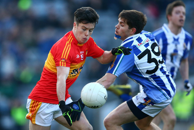 Darragh Nelson tackles Cian Costello