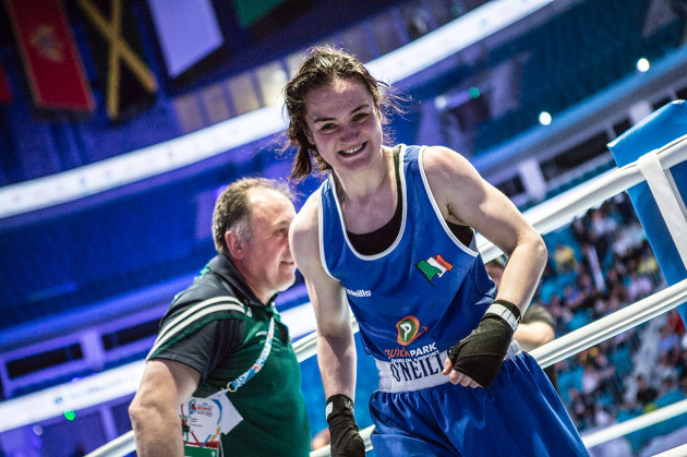 Kellie Harrington celebrates victory