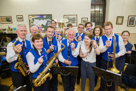 Members of St Marys Brass & Reed Band