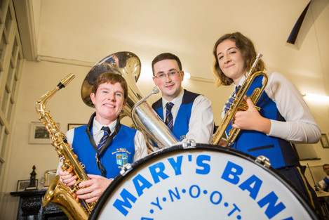 Gerda Dewit, Daniel McGonagle,  Jane o Connor  St Marys Brass Band
