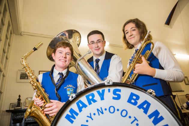 Gerda Dewit, Daniel McGonagle,  Jane o Connor  St Marys Brass Band