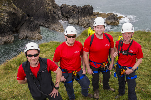 Mario McRory, Jim Carney, Alex Fitzmaurice & Kevin Smith of Tramore Cliff Rescue