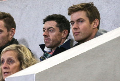 Rory McIlroy at tonight's game