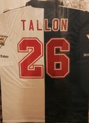 Tallon s shirt from the 1995 96 campaign still hangs proudly in his family  home in Meath. 57eb26479