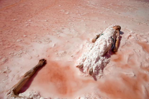 Mideast Iran Urmia Lake